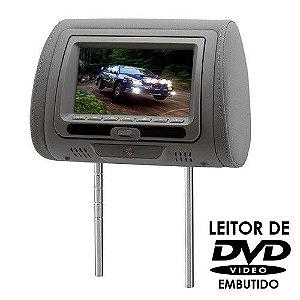 Encosto de Cabeça KX3 Tela LCD 7 Pol DVD728 Grafite