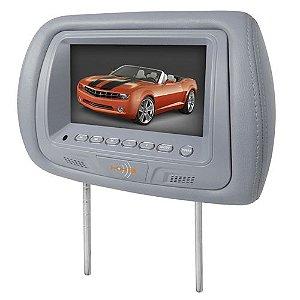 Encosto de Cabeça KX3 Tela LCD 7 Pol TM706 Cinza