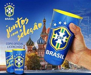 Copo Oficial Colecionável Brasil CBF Copa do Mundo 2018 770 ml Azul