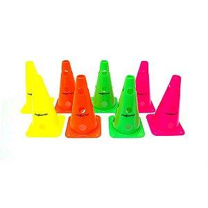 Kit de 8 Cones Agilidade com Furos Proaction 30cm