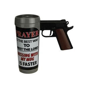 CANECA PRAYER IS THE BEST PISTAL MUG