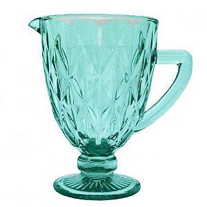 Jarra de Vidro Bico de Diamante Azul Tiffany 1L