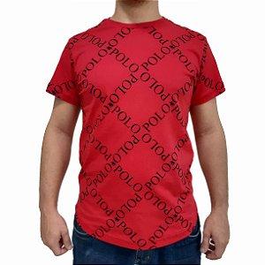 Camiseta Polo RG518 de Malha Estampada SWAG