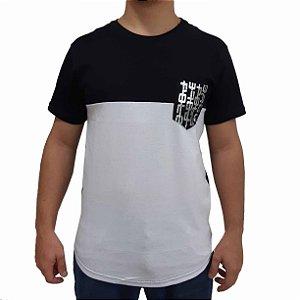 Camiseta Polo RG518 de Malha Bicolor com Bolso