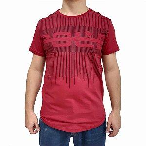 Camiseta Polo RG518 de Malha Listras SWAG