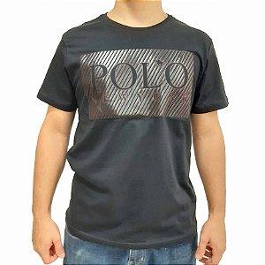 Camiseta Polo RG518 de Malha Estampa Listrada
