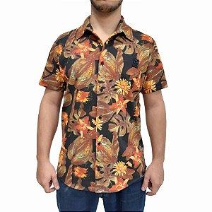Camisa  POLO RG518 Florida Manga Curta Laranja