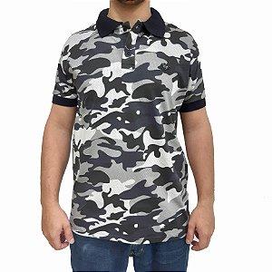 KIT com 3 Camisas Polo RG518 de Malha Camuflada