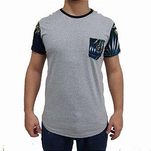 KIT com 3 Camisetas Polo RG518 Com Bolso Estampa Florida