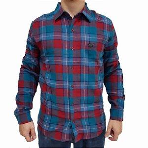 KIT com 3 Camisas Xadrez Manga Longa Polo RG518 Flanelada