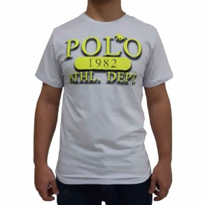 KIT com 3 Camisetas Polo RG518 de Malha Estampada