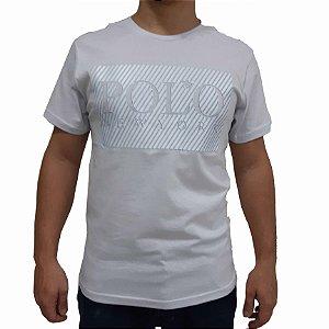 KIT com 3 Camisetas Polo RG518 de Malha Estampa Listrada