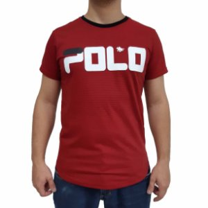 KIT com 3 Camisetas Polo RG518 de Malha Estampada SWAG