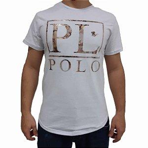 KIT com 3 Camisetas Polo RG518 de Malha Estampada Fóil