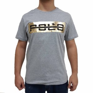 KIT com 3 Camisetas Polo RG518 de Malha Estampa Refletiva