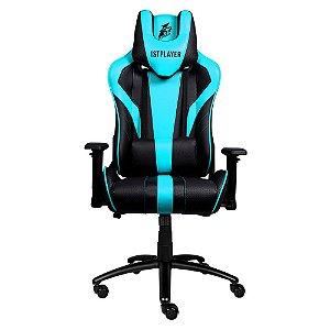 Cadeira Gamer 1STPLAYER FK1 Black and Blue - FK1BLACKANDBLUE