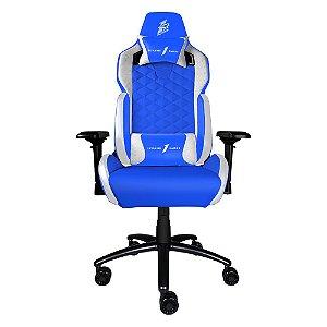 Cadeira Gamer 1STPLAYER DK2 Blue and White - DK2BLUEANDWHITE