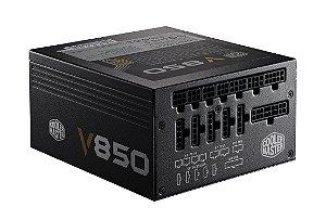 Fonte Cooler Master V 850W - 80 PLUS GOLD - PFC ATIVO - RS-850-AFBAG1-WO