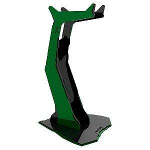 Suporte para Headset Rise Gaming Venon Preto e Verde Pequeno - RM-VN-01-BG