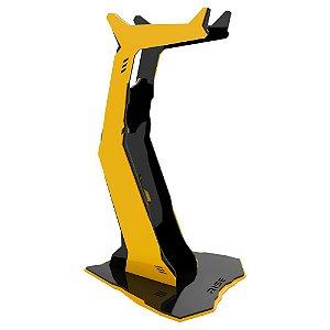 Suporte para Headset Rise Gaming Venon Preto e Amarelo Pequeno - RM-VN-01-BY