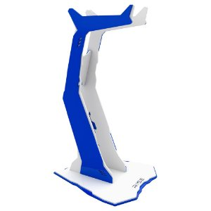 Suporte para Headset Rise Gaming Venon Branco e Azul Pequeno -RM-VN-01-WB