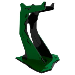 Suporte para Headset Rise Gaming Venon Pro Preto e Verde Grande - RM-VN-02-BG