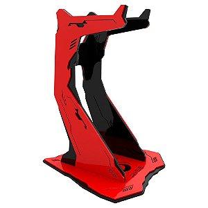 Suporte para Headset Rise Gaming Venon Pro Preto e Vermelho Grande - RM-VN-02-BR