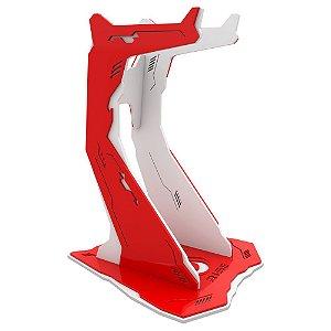Suporte para Headset Rise Gaming Venon Pro Branco e Vermelho Grande - RM-VN-02-WR