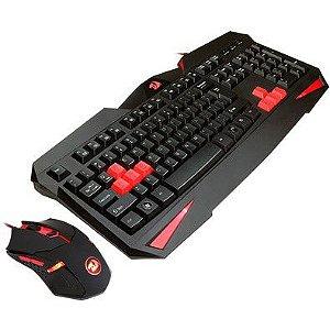 Teclado e Mouse Gamer Redragon Vajra com Mouse Centrophorus 2000dpi 6 botões S101