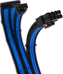 Kit 3 Cabos Sleeved Rise Mode Preto e Azul - RM-SL-01-BB