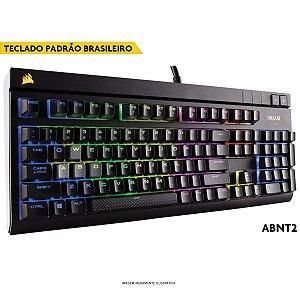 Teclado Mecânico Corsair STRAFE RGB CHERRY MX SILENT ABNT2