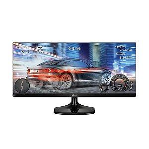 Monitor Gamer LG LED 25' ULTRAWIDE (21:9) FULLHD 2560X1080 2X HDMI, SAÍDA PARA FONE DE OUVIDO PRETO BRILHANTE 25UM58