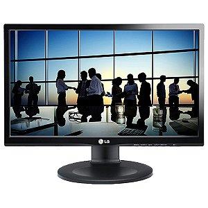 """Monitor LG LED 19,5"""" HD 1600X900 D-SUB., DVI-D, PIVOT E AJUSTE DE ALTURA , PRETO 20M35PD - LG"""""""
