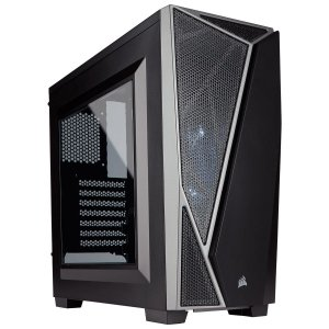 Gabinete Corsair MID TOWER GAMING CARBIDE SERIES SPEC-04 LED PRETO/CINZA MINI ITX, MICRO ATX E ATX