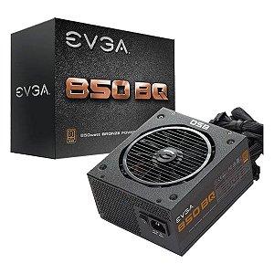 Fonte EVGA ATX 850W BQ 80 PLUS BRONZE SEMI MODULAR 110-BQ-0850-V0