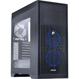 Gabinete Pcyes Mid-Tower Bear com 3 Fans, LED RGB, Lateral em Acrílico