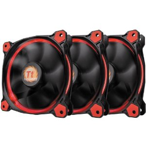 Case Fan Thermaltake Riing 12 Led Radiator Red 3 Pack CL-F055-PL12RE-A