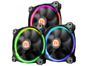 Case Fan Thermaltake Riing 12 Radiator Fan 256 Color C/3 Led SWITCH CL-F042-PL12SW-B