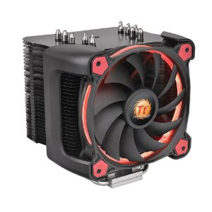 Cooler Para Processador Thermaltake Riing Silent 12 Pro Red Aluminio CL-P021-CA12RE-A