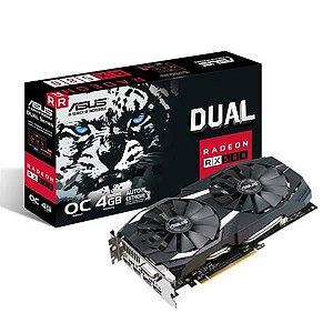 Placa de Video ASUS RADEON RX 580 4GB DUAL SERIES OC EDITION DDR5 256BITS - DUAL-RX580-O4G