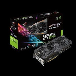 PLACA DE VIDEO ASUS GEFORCE GTX 1070 TI 8GB DDR5 - ROG-STRIX-GTX1070TI-8G-GAMING