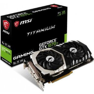 Placa de Video MSI GEFORCE GTX 1070 TI TITANIUM 8G DDR5 256 BITS - GEFORCE GTX 1070 TI TITANIUM 8G