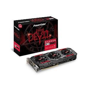 Placa de Video POWER COLOR RADEON RX 570 4GB RED DEVIL OC DDR5 256BITS - AXRX 570 4GBD5-3DH/OC