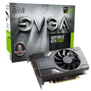 Placa de Video EVGA GEFORCE GTX 1060 6GB GAMING ACX 2.0 (SINGLE FAN) DDR5 192 BITS - 06G-P4-6161-KR