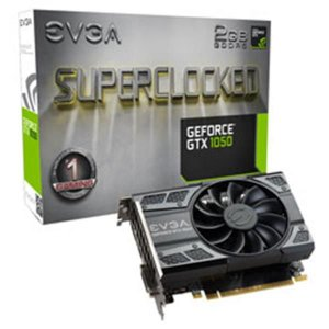 Placa de Video EVGA GEFORCE GTX 1050 2GB SC GAMING ACX 2.0 (SINGLE FAN) DDR5 128BITS - 02G-P4-6152-K