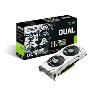 Placa de Video ASUS GEFORCE GTX 1060 6GB DUAL SERIES OC EDITION DDR5 192 BITS - DUAL-GTX1060-O6G