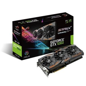 Placa de Video ASUS GEFORCE GTX 1060 6GB ROG STRIX OC EDITION DDR5 192BITS - STRIX-GTX1060-O6G-GAMIN