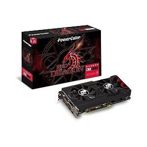 Placa de Video POWER COLOR RADEON RX 570 4GB RED DRAGON DDR5 256 BITS - AXRX 570 4GBD5-3DHD/OC