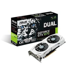 Placa De Video Asus Geforce GTX 1070 8GB DUAL OC EDITION DDR5 256BITS DUAL-GTX1070-O8G