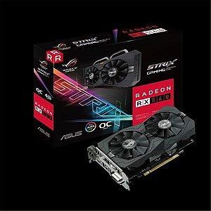 Placa de Video ASUS RADEON RX 560 OC EDITION 4GB DDR5 128 BITS - ROG-STRIX-RX560-O4G-EVO-GAMING